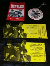 "THE BEATLES 1964 ""A HARD DAYS NIGHT"" New Royal Theatre Movie Two Tickets & More"
