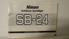 RARE NIKON SB-24 SB24 SPEEDLITE FLASH USER OPERATING INSTRUCTION MANUAL GUIDE