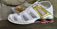 Nike Shox  Men's Size 11 White red yellow Leather Running Sneakers