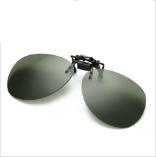 Polarized Driving Clip-on Flip-up UV400 Day & Night Vision Lens Sunglasses Glass