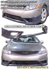 HF-Style Front Lip (Urethane) Fits 06-08 Honda Civic 2dr Coupe