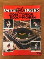 Vintage Baseball Detroit Tigers 1984 Score Book Official Program Sparky Anderson