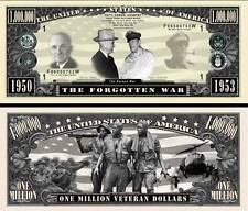 Korean War Million Dollar Bill Collectible Fake Play Funny Money Novelty Note