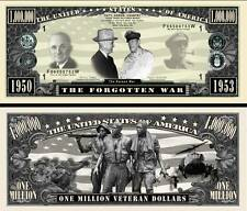 Korean War Million Dollar Bill Collectible Fake Play Funny Money Novelty Note