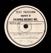 "DAY, Doris. Best Thing For You Would Be Me. 7"" 33 test pressing on 10.5"" disc. E"