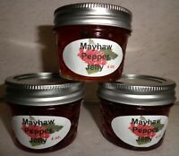Fresh MAYHAW PEPPER JELLY 1/4 Pint (4 oz.) Organic, No Chemicals, FREE SHIPPING