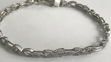 10k White Gold Dia Tennis Ladies Braclet 7 3/4 Long 7.2 Grams Infinity Design