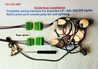 Metric wiring harness for LP & SG with Coil Split & No soldering required!