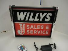 Willys Jeep Sales Service LED Display light sign box