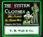 VINTAGE+ADVERTISING+GLASS+MAGIC+LANTERN+SLIDE+THEATRE+-+THE+L+SYSTEM+CLOTHES