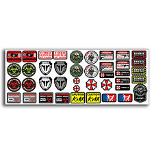 R/C Scale ZOMBIE RC Car Decal Graphic Stickers SHEET 1/10 Truck Crawler Body OEM