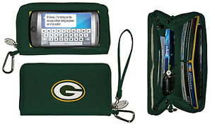 New Touch Screen  Smartphone Wallet NFL Licensed GREEN BAY PACKERS Green gift
