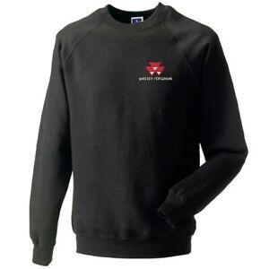Massey Ferguson Tractor Embroidered Crew Neck Sweatshirt - XS to 2XL
