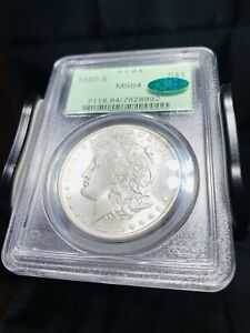 1880 S Morgan Silver Dollar PCGS MS64 CAC OGH - Bright Luster White Coin 2