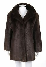 Vtg Couture by Andre Furs Brown Genuine Beaver Fur Jacket Coat Size M / L