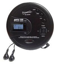 NEW Supersonic SC-253 40 Sec Anti-Shock MP3/CD/FM Radio Player + Headphones
