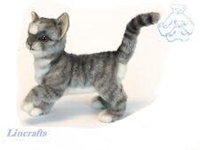 Standing Grey Kitten  Plush Soft Toy Cat by Hansa. 6499