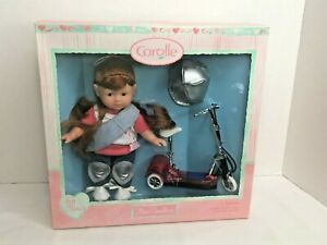 """Mini Corolle Doll Corolline 8"""" Scooter Gift Set NEW Scooter  2003"""