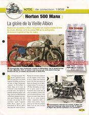 NORTON 500 MANX Featherbed Dick KLAMFOTH 1959 Joe Bar Team Fiche Moto #008870