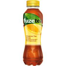12 frascos Fuze Tea té helado té negro con limón a 400ml Inc. depósito desechable