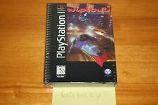WipEout (PS1 PSX Playstation) NEW SEALED FIRST PRINT LONGBOX W/SLIPCOVER, RARE!