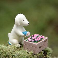 Miniature Puppy Watering Flower Fairy Garden Animal Ornament Terrarium Supplies