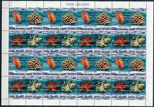 [PG20196] Cook 1980 : Corals - Good Very Fine MNH Sheet - Folded For Sending