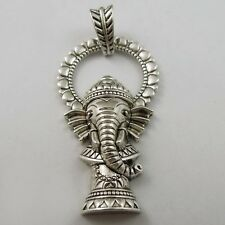 **1x Antique Silver Alloy  Majectic Elephant Pendant Charm Animal Findings