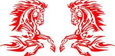 "Flaming Horse Car Decals for Truck or Trailer (2 - 11"" x 11"")"