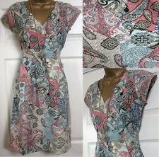Viscose V Neck Cap Sleeve Tea Dresses