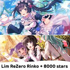 EN/WW Bandori/BanG Dream Girls Band Party Starter Account-limited Re:Zero Rinko