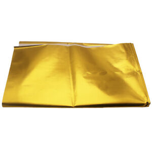 """1Meter 39""""x 47"""" Self Adhesive Reflect-A-Gold Heat Barrier 850°F Heat Wrap Cloth"""