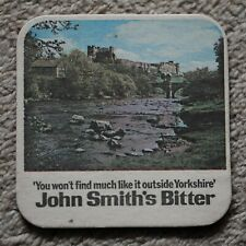Vintage John Smith's Bitter Beer Mat Richmond Castle / Tadcaster Brewery