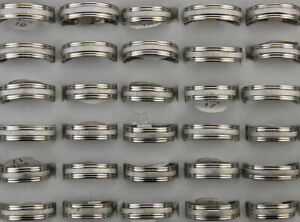 Wholesale Bulk Lots 60pcs Classic Stainless Steel Jewelry Womens Lady's Rings