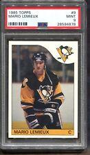 1985 Topps #9 Mario Lemieux RC PSA 9 Centered HOF Pittsburgh Penguins