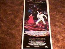 SATURDAY NIGHT FEVER INSERT POSTER 1977 JOHN TRAVOLTA