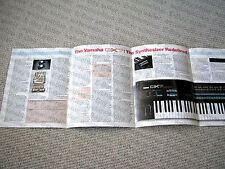 MAKE OFFER - Yamaha DX-7 synthesizer keyboard brochure catalogue