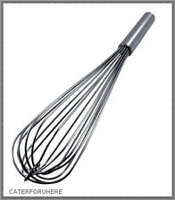 PRO HEAVY DUTY BALLOON WHISK WHIP MIXER 40 cm STRONG S STEEL KITCHEN CATERING