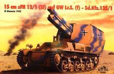 Sd. Kfz 135/1 15 cm SFH 13/1 (Sf) auf Gw. Lr. S. German SPG-Afrika Afrikakorps 1/35 tr/min