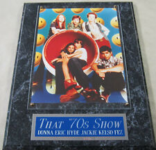 #1 FAN THAT 70'S SHOW CAST ASHTON KUTCHER MILA KUNIS FRAMED 8 X 10 PHOTO PLAQUE