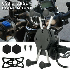 Motorcycle Cell Phone Handlebar Mount Holder USB Charger 5.5-6.5 Inch US SELLER