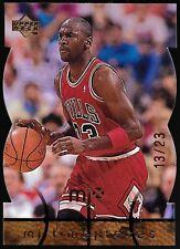 1998 Upper Deck MJx Timepieces Gold Michael Jordan #27 Die Cut #'d 13/23
