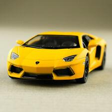 Lamborghini Aventador Lp700-4 Model 1:38 Scale Die-Cast Metal Matte Yellow