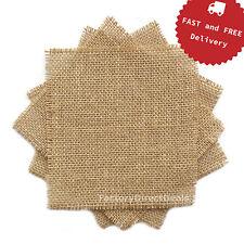 20 stück (10x10cm) jute hessische sackleinen stoff scraps diy craft sewing wimpel