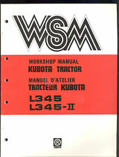 KUBOTA L345 / L345-ll TRACTOR WORKSHOP SERVICE MANUAL