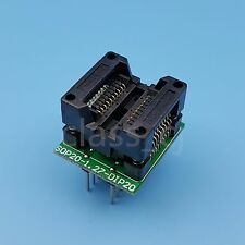 SOP20 SOIC20 to DIP20 200mil Pitch 1.27mm IC Programming Adapter Test Socket