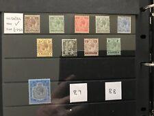 More details for malta 1914-21 kgv sg69-sg86 stamps. mounted mint part set