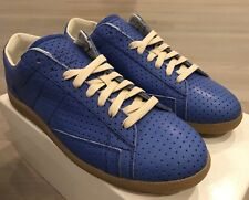 850$ Maison Margiela Blue Perforated Leather Sneakers size US 13 Made in Italy