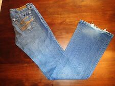 Seven 7 Premium Womens Boot Cut Denim Distressed Blue Jeans Size 28