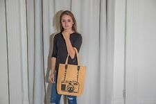 Womens Yellow Camera Graphic Canvas Bag